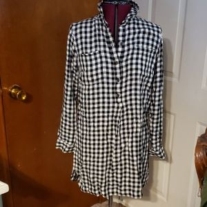 Old Navy tunic /dress check top